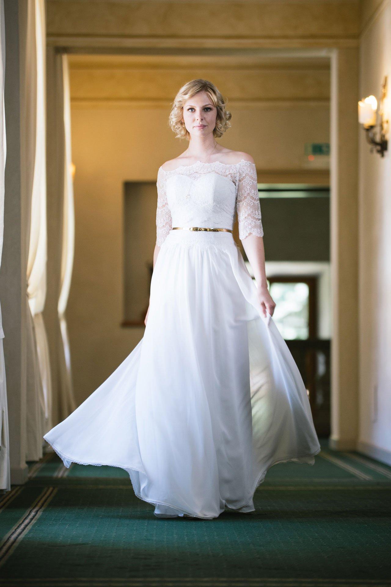 brautkleid inspiriert vom 20er jahre stil vintage kleid mit spitzencorsage