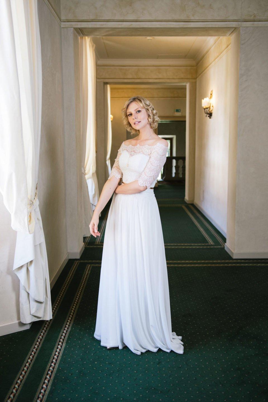 Brautkleid 20er Jahre StilVintage Traumkleid mit Spitzenbolero