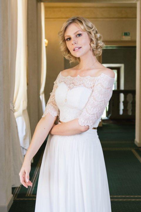 Spitzenbolero passend zu Brautkleidern Kate, Katy und Paulina