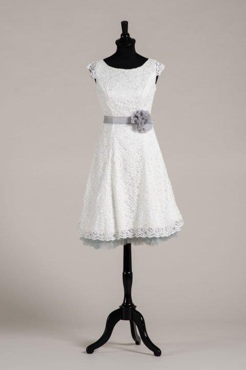 küssdiebraut Seidenband Brautblüte Light Grey