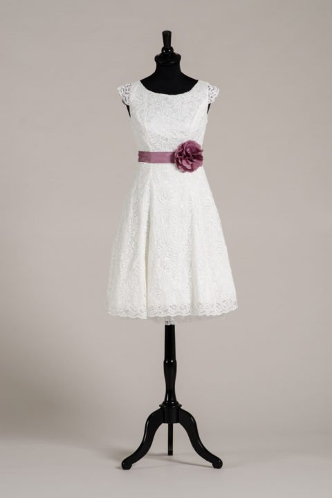 küssdiebraut Seidenband Brautblüte Mauve