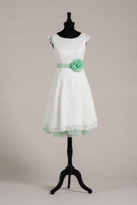 küssdiebraut Seidenband Brautblüte Mint