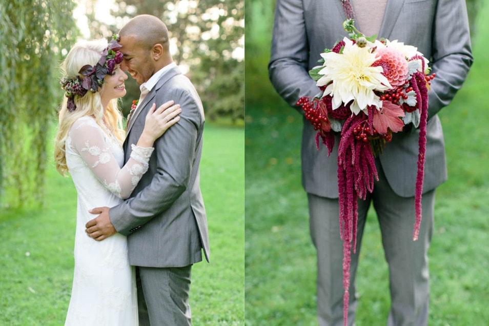 Boho inspiriertes Hochzeitskleid