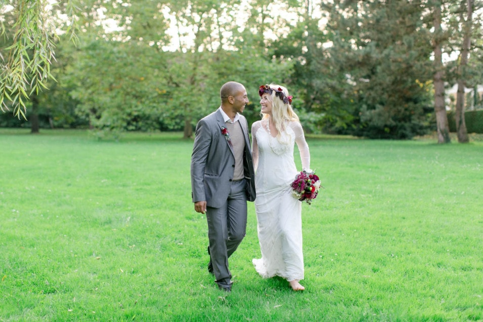 Boho inspiriertes Brautkleid