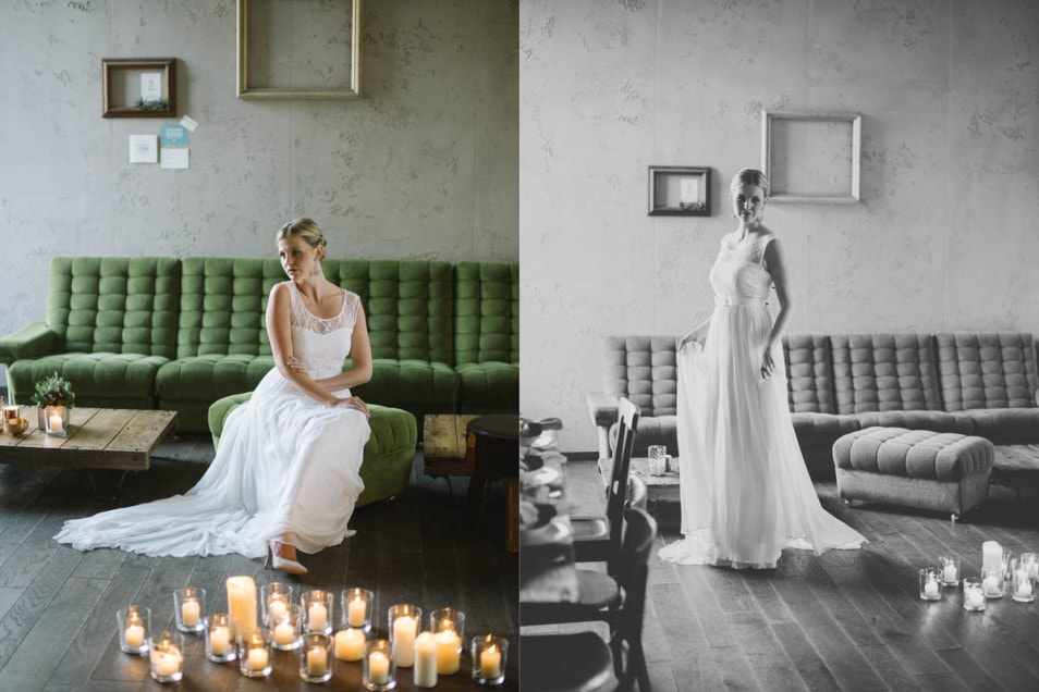 urbanes Hochzeitskleid