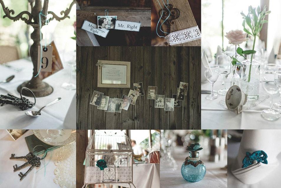 Vintage Hochzeit DIY-Deko