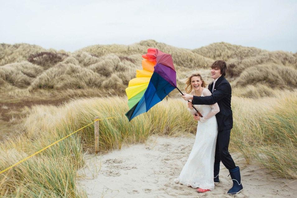 Fotoshoot mit Brautkleid nach der Hochzeit