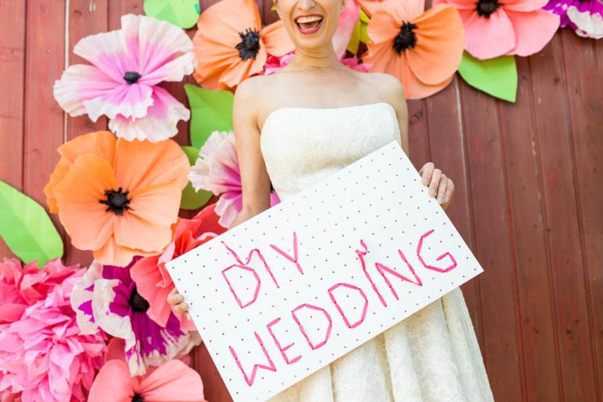 DIY Ideen – farbenfrohe Gute-Laune-Hochzeitsinspiration