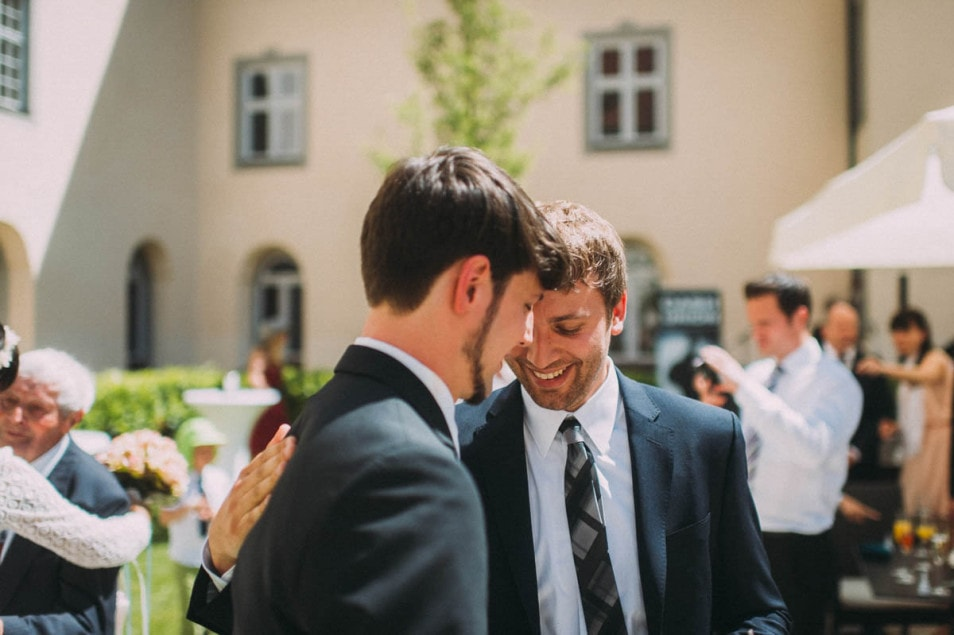 Glückwünsche an den Bräutigam