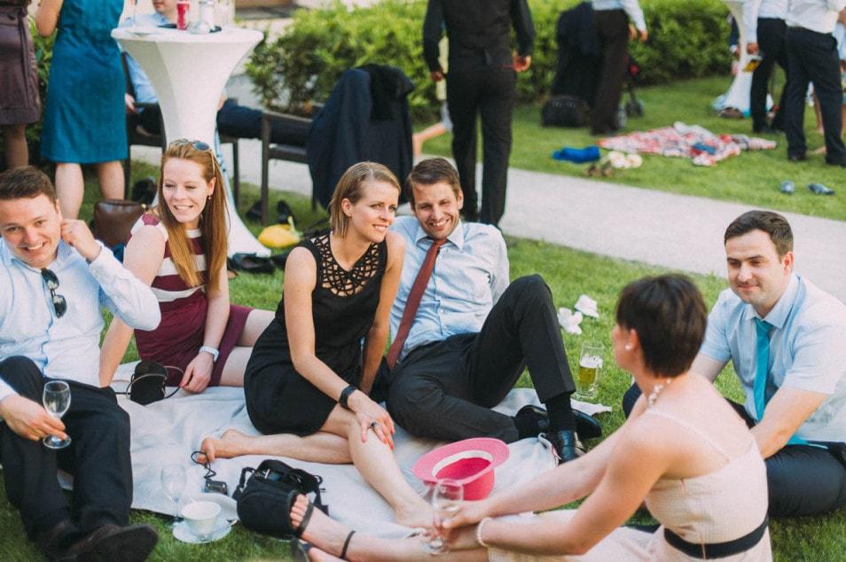 Picknick auf der Hochzeit