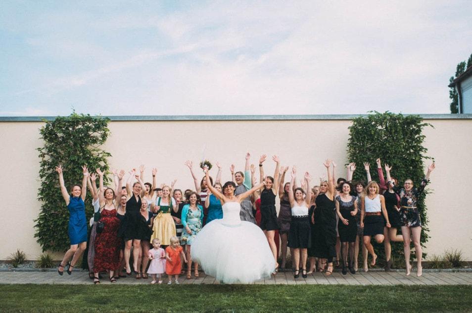 Aufnahmen von der Hochzeitsgesellschaft