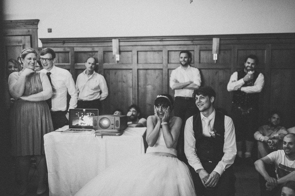 Geschichten von früher für das Brautpaar