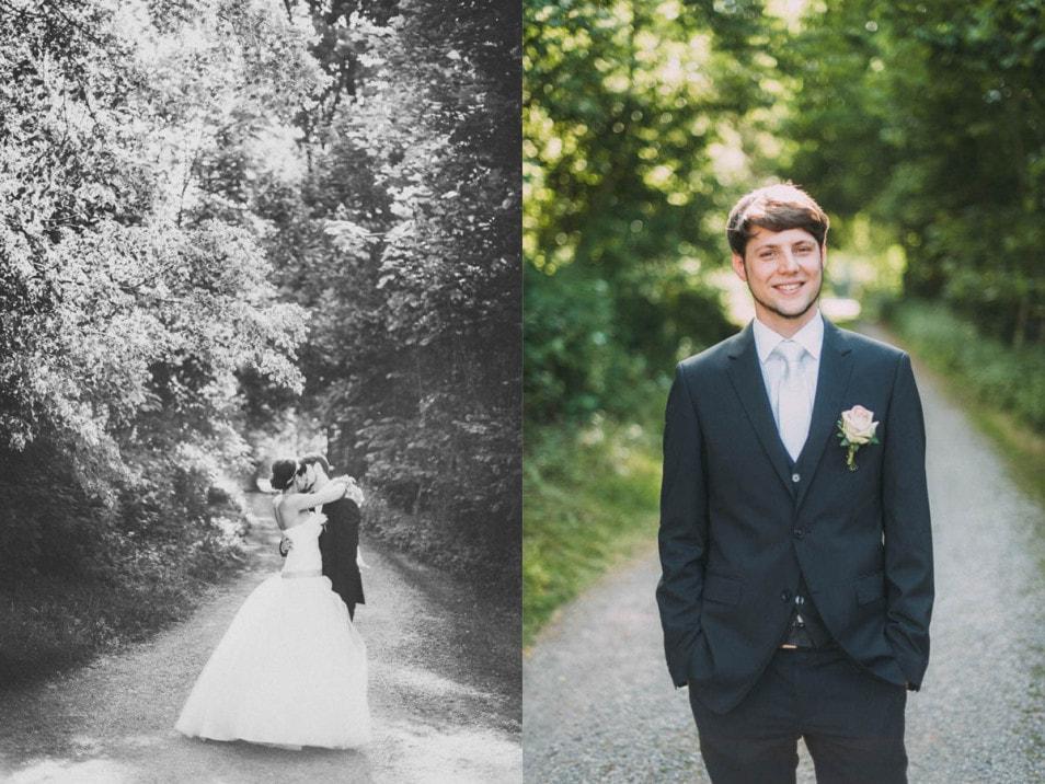 Aufnahmen vom Hochzeitspaar