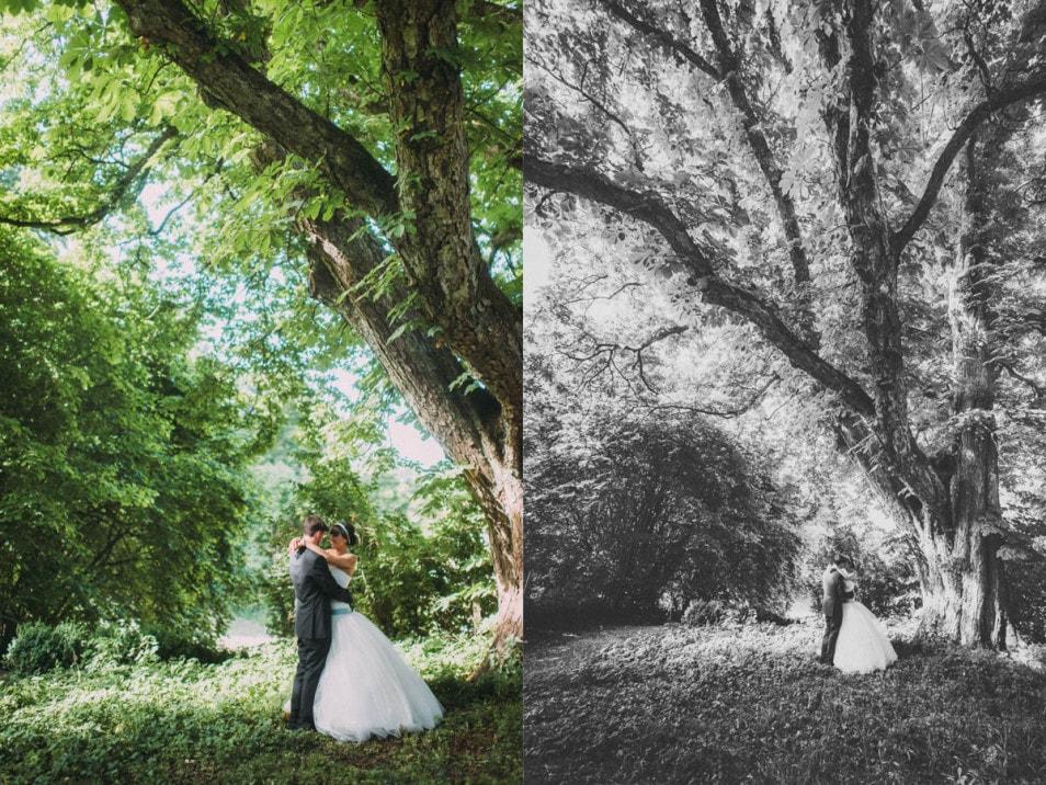 Fotoshoot am Nachmittag der Hochzeit