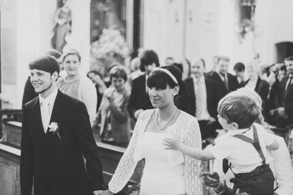 Das Brautpaar freut sich auf die Trauung