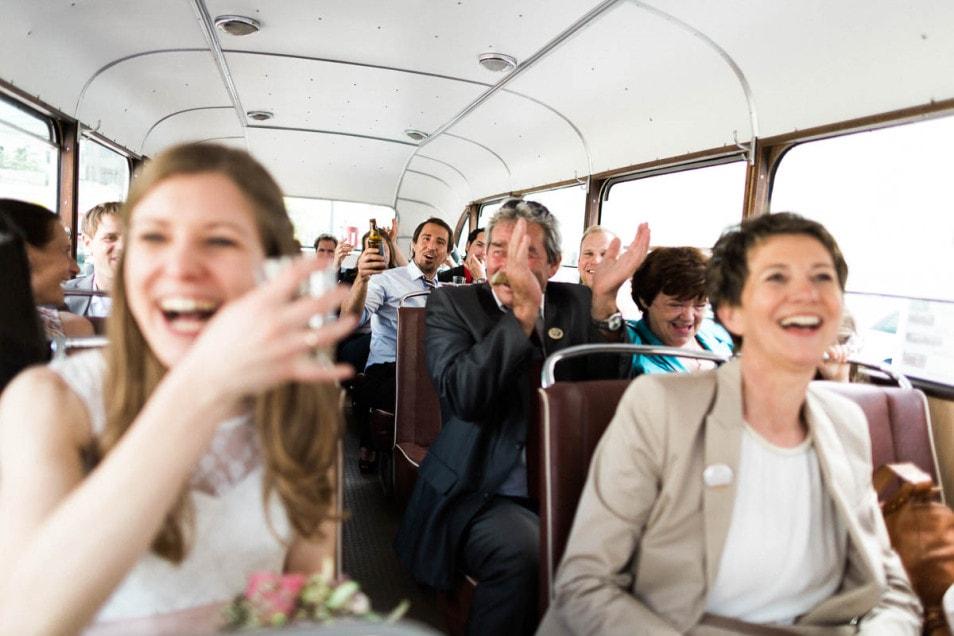 Oldtimerfahrt Hochzeitsparty