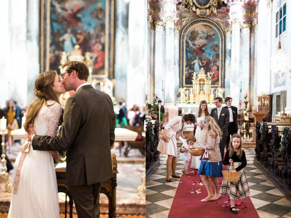 romantische Hochzeit kirchliche Trauung