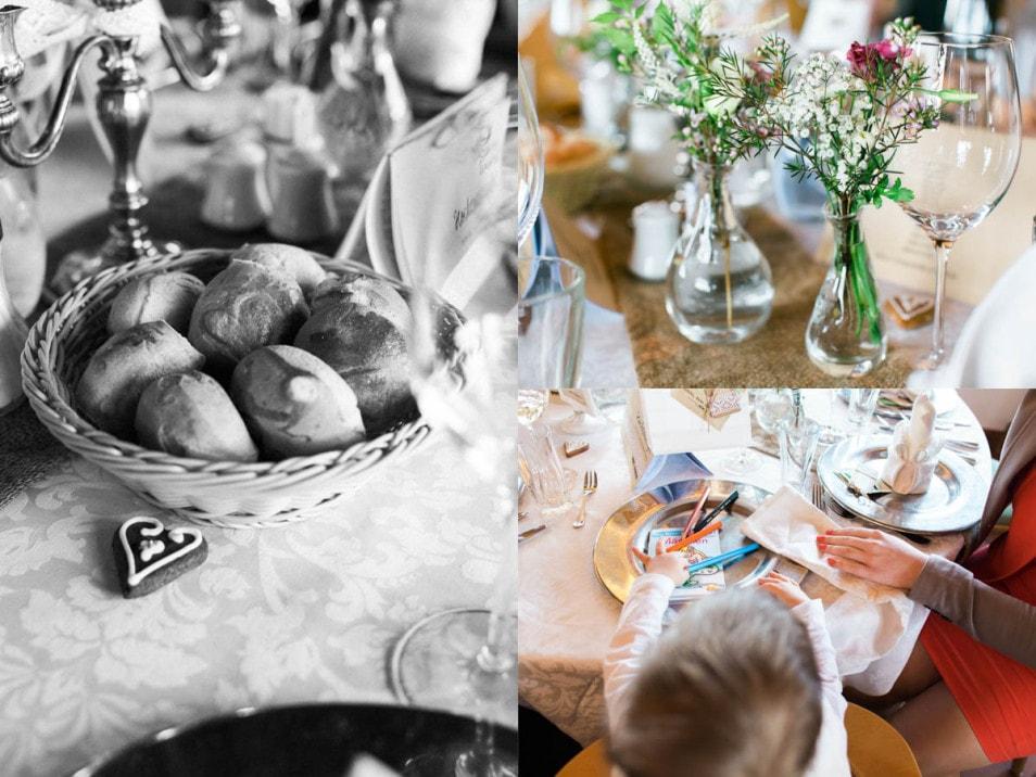 romantische Hochzeitstafel
