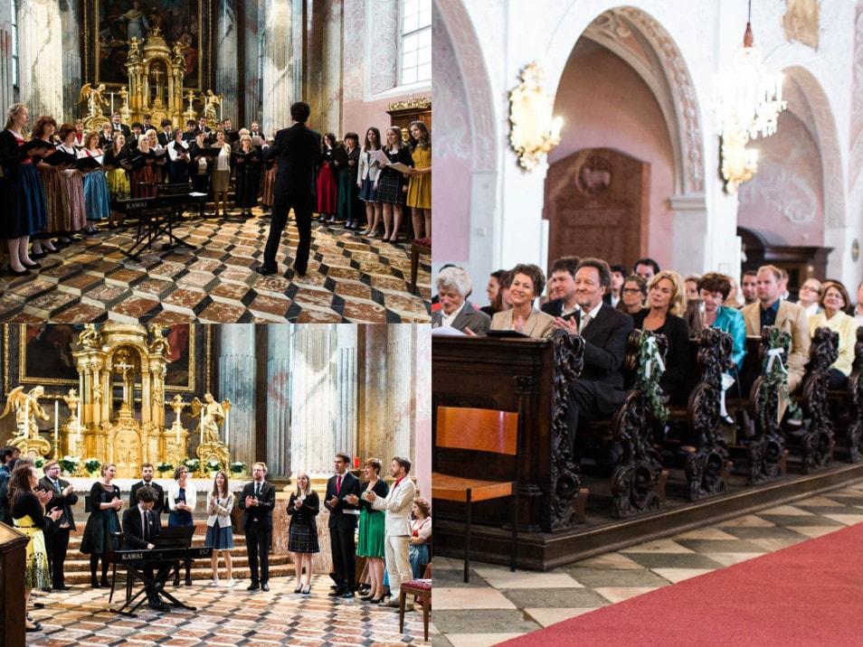 Hochzeitschor in der Kirche
