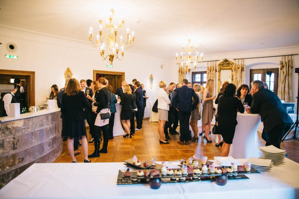 Canapes beim Hochzeitsempfang