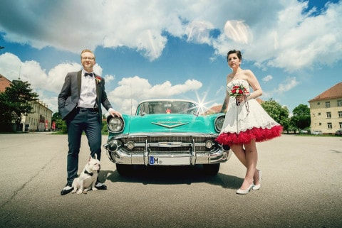Rockabilly Hochzeit – Inspirationsshoot voll Rock'n'Roll