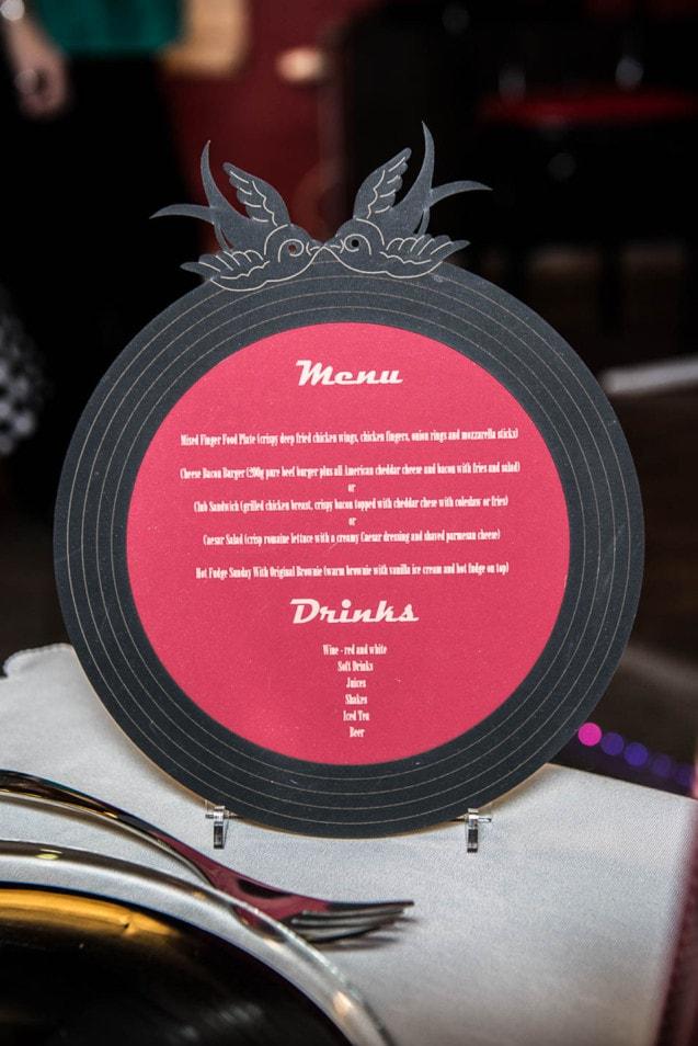 menu im rock´n´roll style