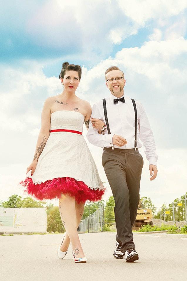 Rockabilly Hochzeit Inspirationsshoot Voll Rocknroll