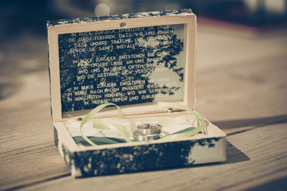 Ringschachtel Hochzeit mit Vers