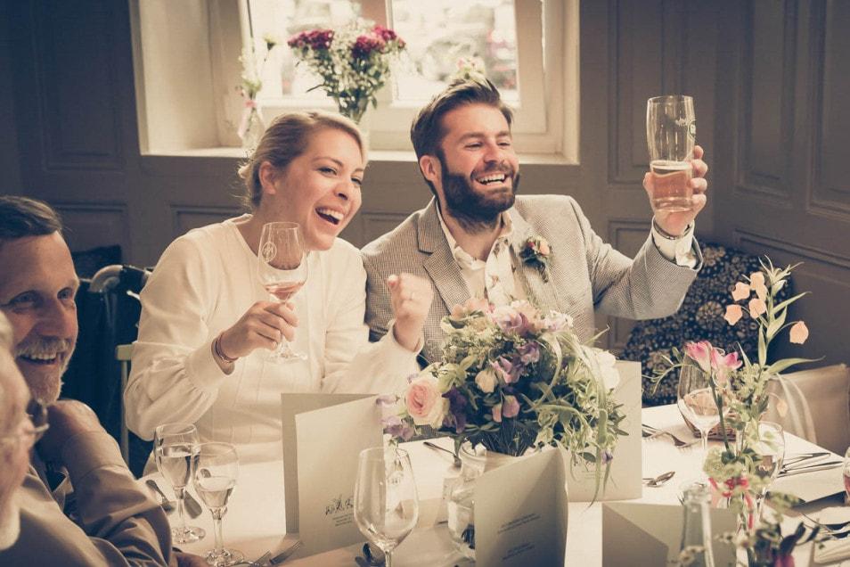 Tost vom Brautpaar