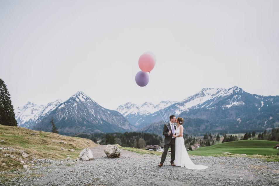 Hochzeit zu zweit in den Bergen