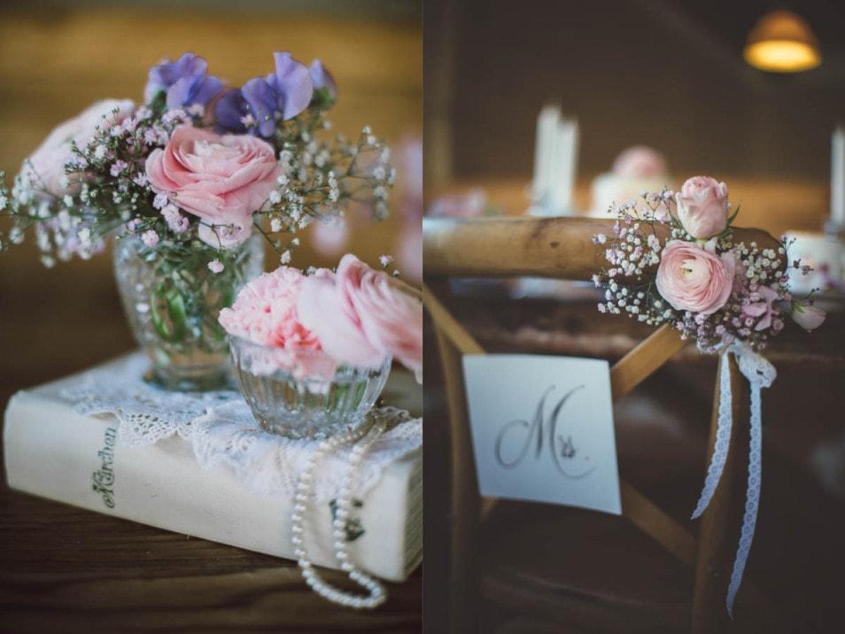 romantische Blumensträuße zur Hochzeit