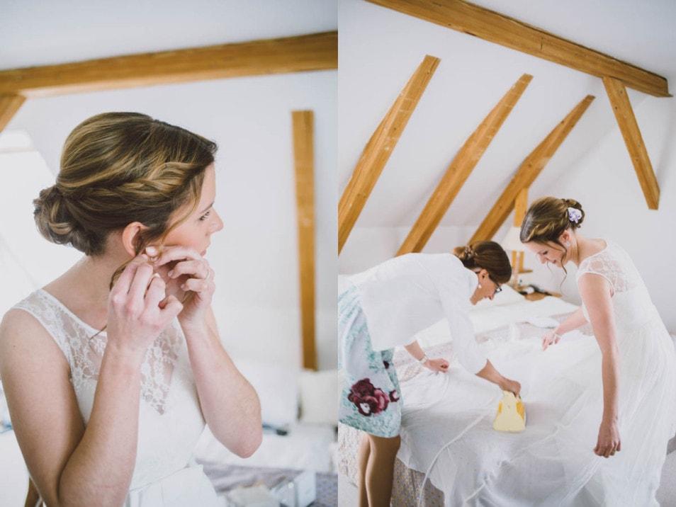 Hochzeit zu zweit getting ready der Braut