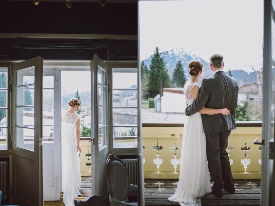 Hochzeit zu zweit nur Braut und Bräutigam