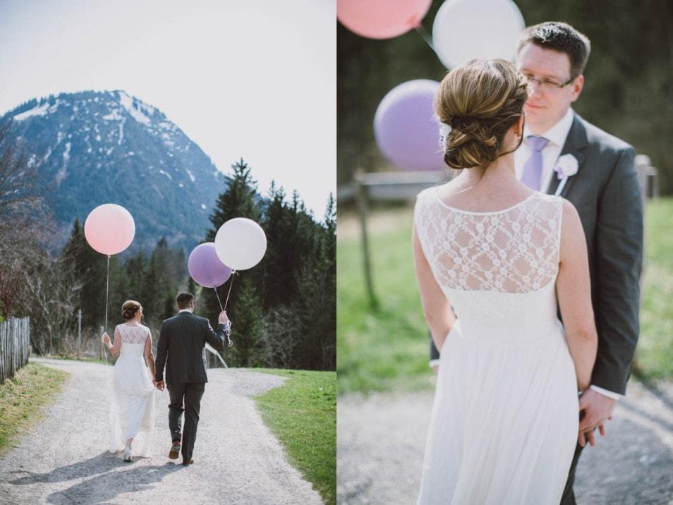 Bunte riesen Ballons zur Hochzeit