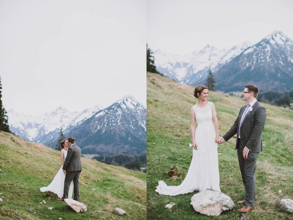 Fotosession in den Bergen