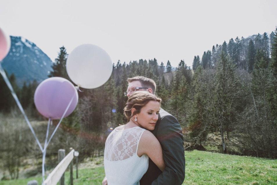 Intime Momente bei der Hochzeit