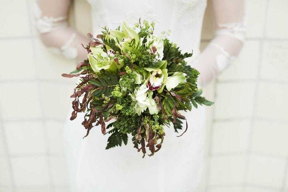 natürlicher Brautstrauss aus dem Wald