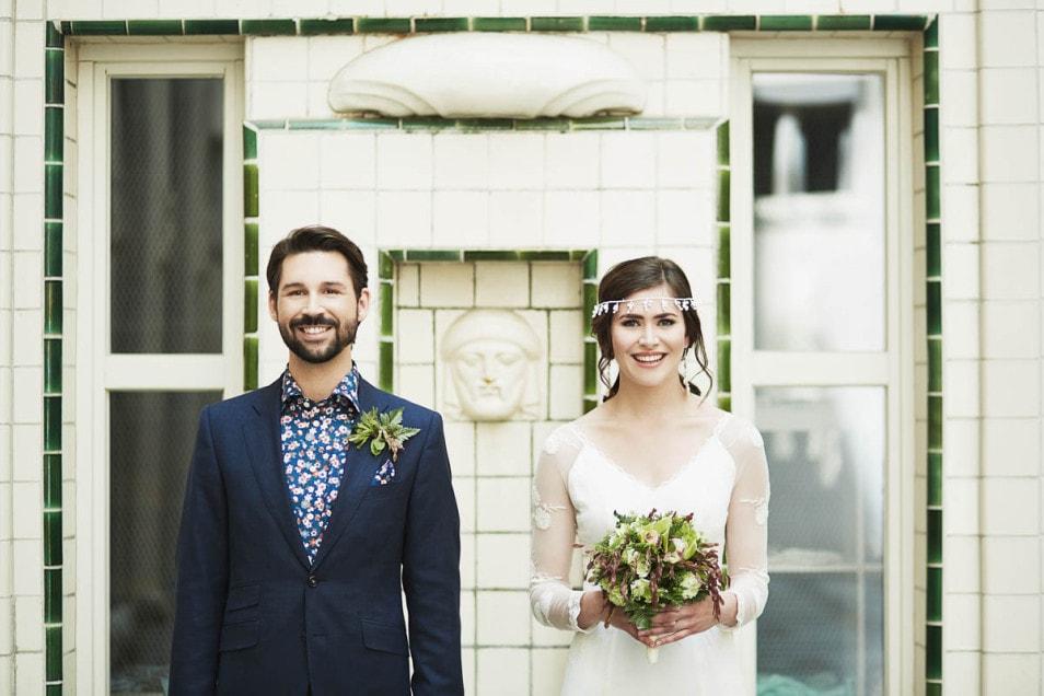 Braut mit Boho Kleid
