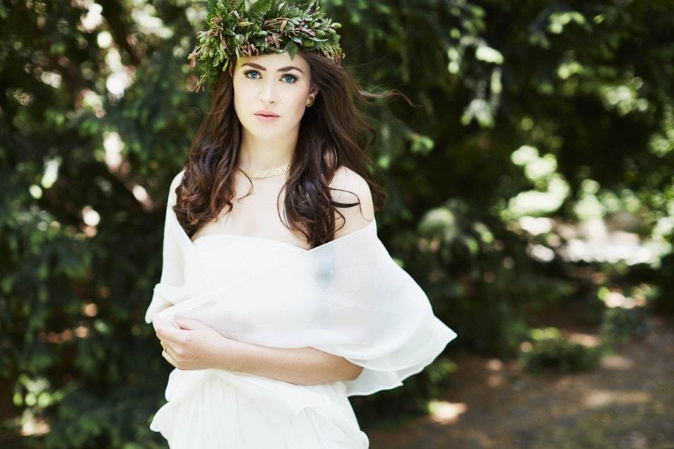 Braut mit Brautstola