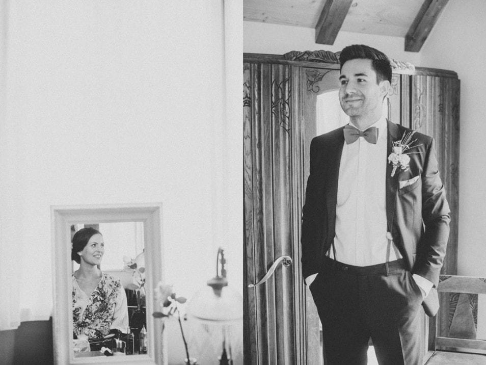 Hochzeit im Freien First Look