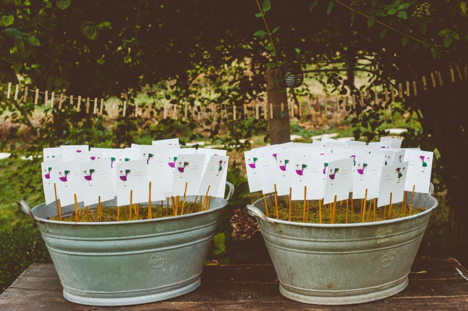 Hochzeit im Freien Programmkärtchen