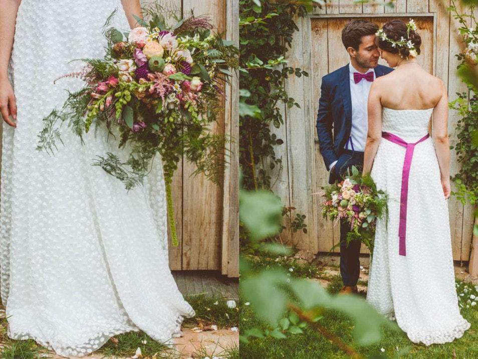Fotos vom Brautpaar nach der Trauung