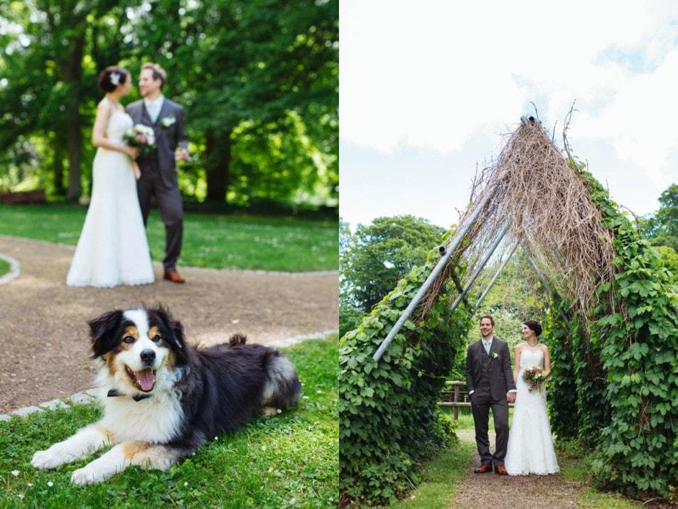 Hochzeitsfotos im Garten
