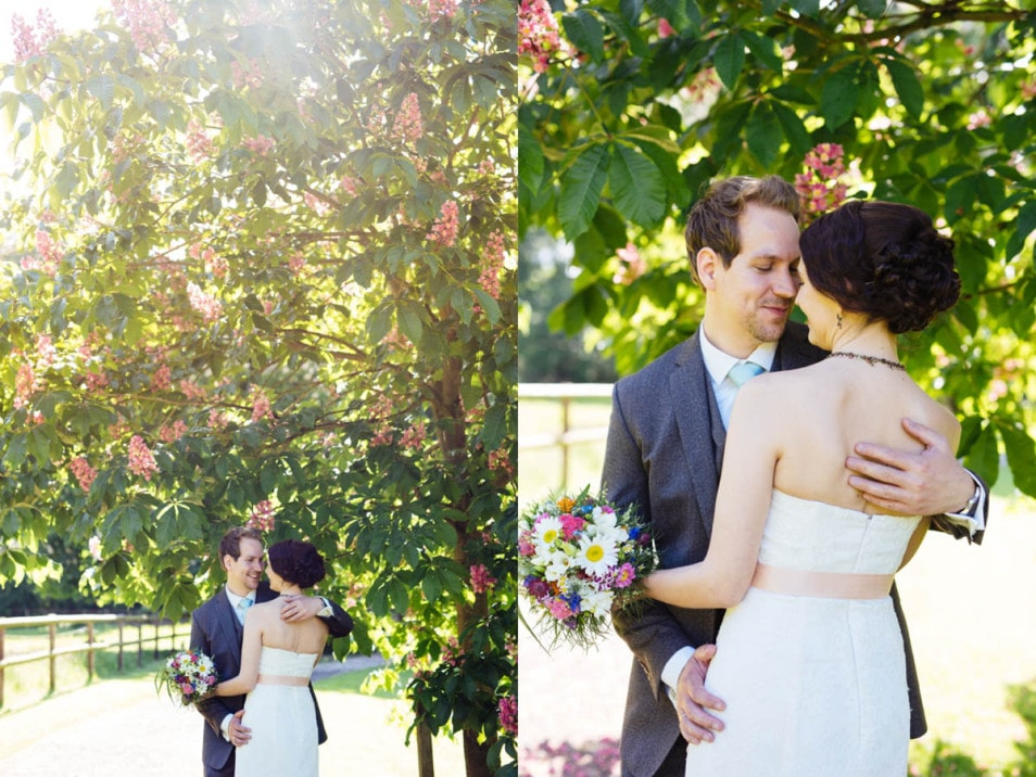 Zeit für Brautpaar Fotos