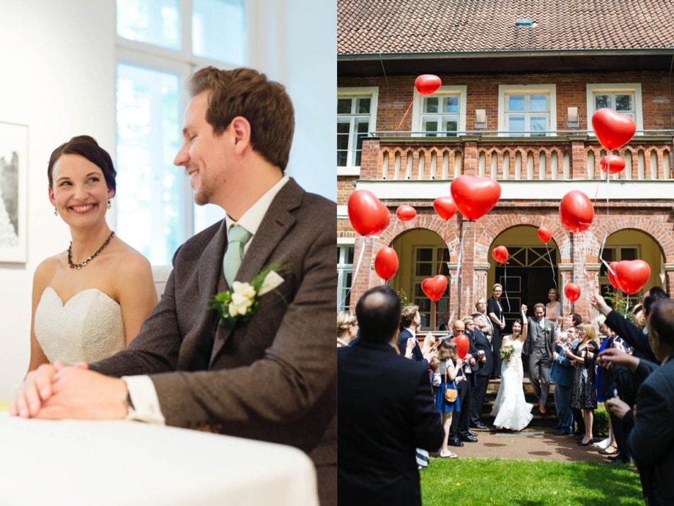 glücklich frisch verheiratet