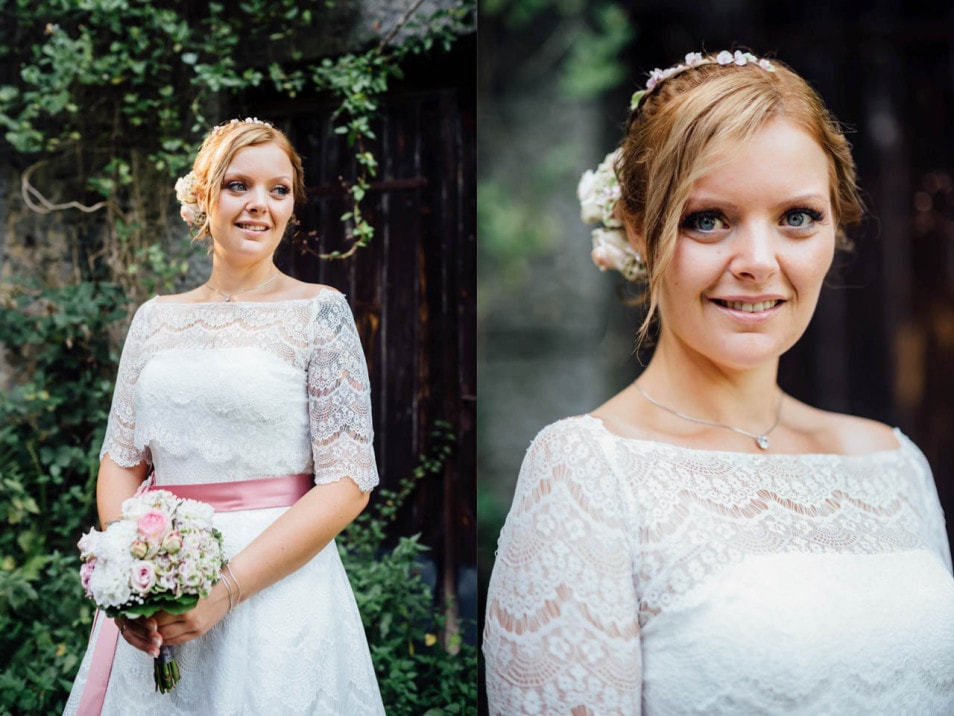 Hochzeitsbilder der Braut