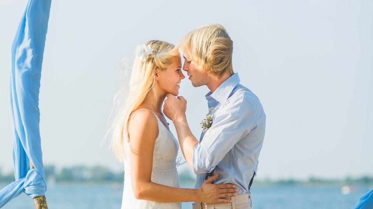 Strand Brautkleid
