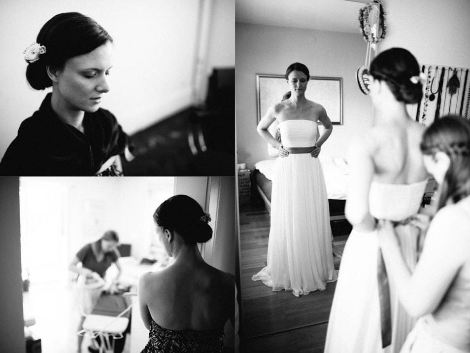 Getting Ready der Braut
