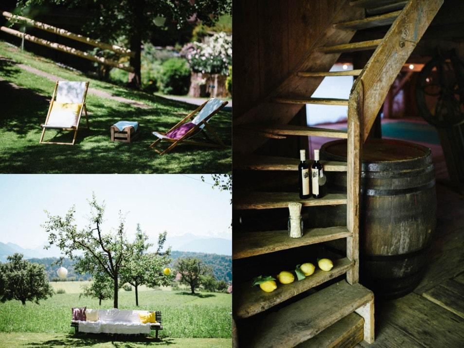 Garten Lounge bei der Hochzeit
