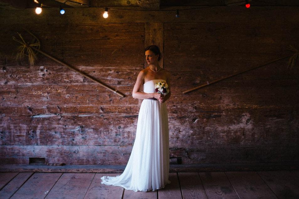 Bridal Shoot in der Scheune